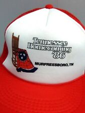 Nos 1980s Vintage Tennessee Homecoming 1986 Trucker Ball Sport Hat Snapback Cap