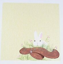Easter Hand painted Scrapbook Page Scrapbooking album Creative PreMade Bunny