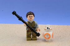 Lego Mini Figure Star Wars Rey with 2-Sided Head and BB-8  from Set 75148