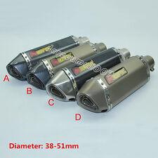 Universel moto 38-51MM d'échappement silencieux tuyau avec amovible db killer