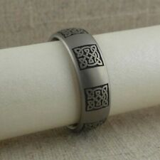 Titanium Celtic Knot Wedding Ring Band  Made in the UK Size 12.5