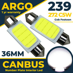 Seat Leon Number Plate Mk1 Mk2 Cupra Fr Led White 1999-2012 Light Bulbs Fits 12v