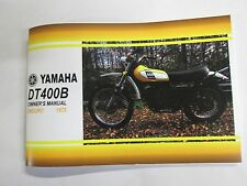 Yamaha  DT400B  owners manual 1975