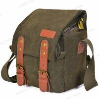 CADeN Canvas Leather Sling Camera Bag Backpack For Canon Nikon Sony SLR DSLR