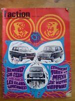 L'ACTION AUTOMOBILE ET TOURISTIQUE N°91 - 1968 RENAULT 8 - 16 - 4L