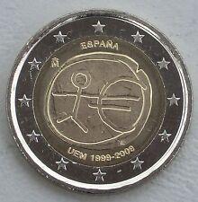 """2 euro españa 2009"""" 10 años de la UEM """"unz"""