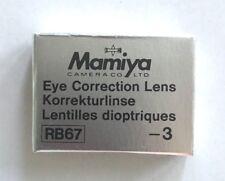 Mamiya RB/RZ -3 correction lens for Prism Finder corrección lente prismensucher