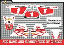 pw50 decals graphics yamaha pw50 personal peewee laminated motocross factory ReD