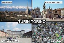 SOUVENIR FRIDGE MAGNET of TURIN TORINO ITALY