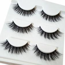 7acd3769008 3Pairs Handmade 100% Real 3D Mink Makeup Cross False Eyelashes Eye Lashes
