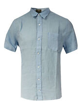 Linen Collared Long Sleeve Casual Shirts & Tops for Men