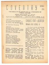 Coventry #1 - 1940 sci-fi fanzine - Arthur Louis Joquel, Charles Fort phenomena