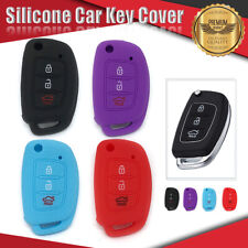 Silicone Car Key Cover Fits HYUNDAI 3Button i10 i20 i30 ix35 ix45 Elantra Accent