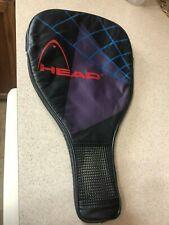 "HEAD heavy duty padded Racquetball racquet  cover. 22"" x 12""."