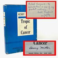 Henry Miller - Tropic of Cancer - 1st 1st - SIGNED / Important Association Copy