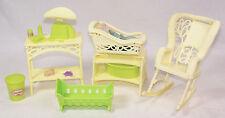 1977-78 BARBIE Dream House Furniture - #9804 Baby Nursery Yellow Wicker Rocker