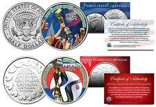 USA WOMEN'S Team 2015 WORLD CUP CHAMPIONS Soccer Colorized 2-Coin Set TEST ISSUE