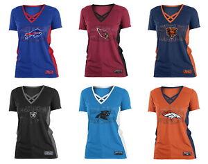 New Era Women's NFL Polymesh Arch T-Shirt - Choose Team