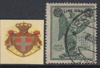ITALY - Regno 1924 Vittoria soprastampati n. 158 cv 600$ used