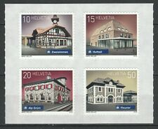 Switzerland 2018 Architecture, Train stations 4 MNH stamps