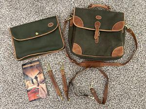 Mulholland Brothers Land Rover Messenger Bag Leather Holdall Laptop Bag Vintage
