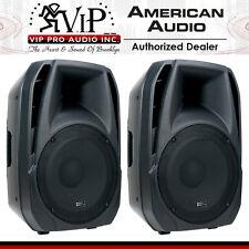 PAIR American Audio ELS15A 2-Way Active DJ/Club Amplified Loud-Speaker System
