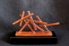 "Cast Bronze ""Mini Monument"" by New York Artist Seena Donneson Abstract Sculpture"