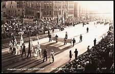Milwaukee WI American Legion Parade Street Stores 1941 RPPC Real Photo Postcard