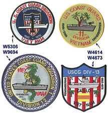 Squadron One Ronone Vietnam and Divisions Uscg Coast Guard 4 patches patch