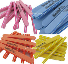 10 PCS Nail Art Files Polish Buffer Sanding Block Shiner 4 Colors 100 180#