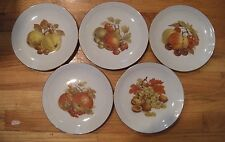5 PC. SET KAHLA GERMAN DEMOCRATIC REPUBLIC FRUIT PLATES ALL DIFFERENT