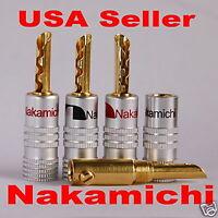 100 Nakamichi Speaker BFA banana plug Jack Adapter Audio connector 24K USA N534E
