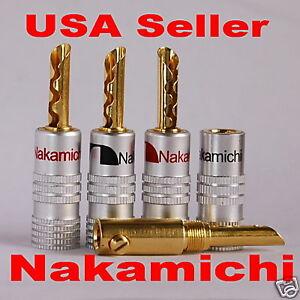 8 Nakamichi BFA Banana Plug Connector Audio Adapter/Converter 24K N0534E USA