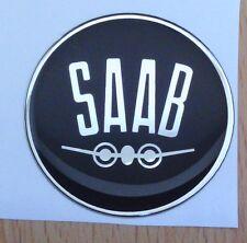 "2.5"" SAAB black Vintage Hood or Trunk Emblem sonett 96 93 9-3 95 9-5 9-2X"