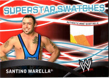 WWE Santino Marella Topps 2011 Superstar Swatches Event Used Shirt Relic Card 4C