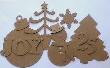 40 Pc. - Christmas Wonders Kit - Raw Bare Unfinished Chipboard Die Cuts