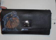 Brussels Griffon dog Hand Painted Designer Wallet for Women Vegan Leather