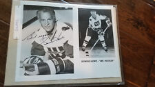 1977-78 NEW ENGLAND WHALERS WHA SIGNED AUTO PROMO PHOTO CARD GORDIE HOWE WINGS