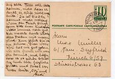 Suiza Entero postal Circulado año 1958 (DL-587)