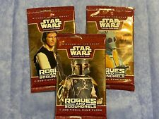 RARE STAR WARS WOTC ROGUES AND SCOUNDRELS x6 LOT Sealed TCG Cards Booster Packs
