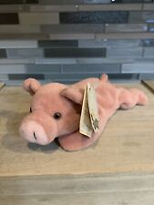 Retired Russ Berrie & Co Oinks the Pig Luv Pet Beanie Stuffed Plush Toy