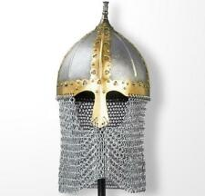 Russian Medieval Boyar Helmet & Chainmail Camail Re-enactment LARP Decoration