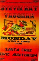 STEVIE RAY VAUGHAN  SANTA CRUZ CA.1986 2ND PRINT POSTER SCARCE
