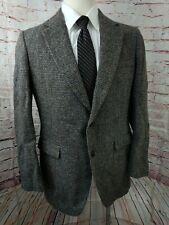 Vintage Stafford Harris Tweed Men Sport Coat Jacket Wool Size 42 R Brown Blazer