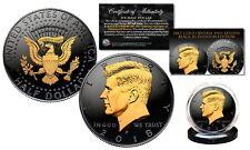 Black RUTHENIUM 2018 JFK Half Dollar U.S. Coin w/ 2-SIDED 24K Gold (Philad MINT)