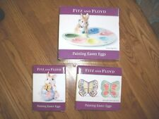 Lot 3 Fitz & Floyd Painting Easter Eggs Egg TrayPlatter-ButterflyBunn yCandy Dish