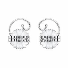 Levears Sterling Silver Pierced Ear Lobe Earrings backs Lift Support Post / Stud