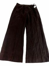 NOUGAT LONDON WOMENS BROWN 100% LINEN DRESS PANTS SIZE 2