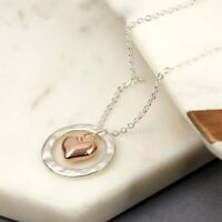 Silver Plated Ring Necklace With Heart For Women Gift Party Valentine Birthday