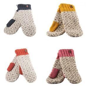 Kusan 100% Wool Fleur de Lis Mittens Yellow/Navy/Orange/Pink PK1903